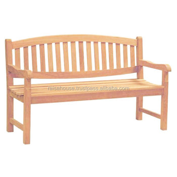 Garden Furniture Indonesia - Oval Bench 2 Seater Teak Furniture