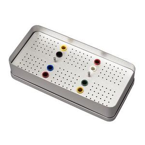 Dental equipment endodontic box anodized color 52 Bur Holes endo box
