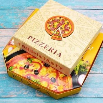 Meilun custom logo printed size hexagon pizza packaging box takeaway boxes supplier