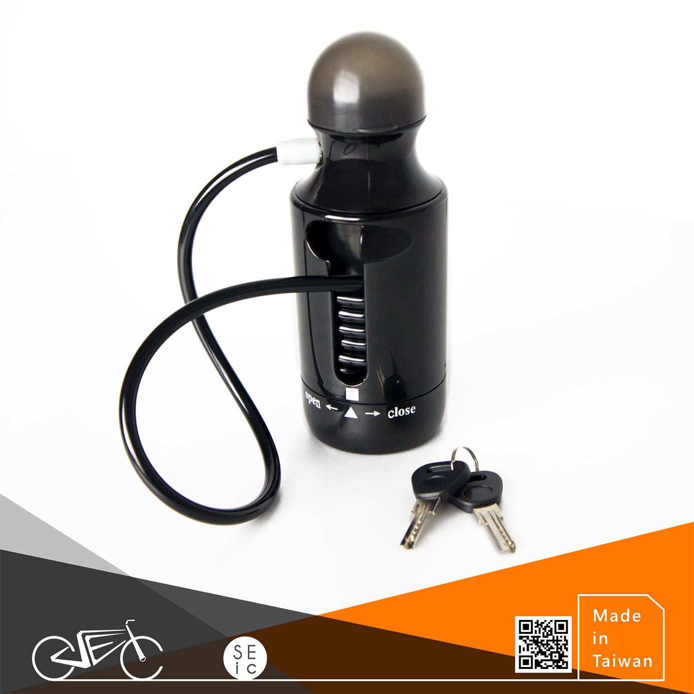 Combination anti-theft bicycle lock bike Bottle lock