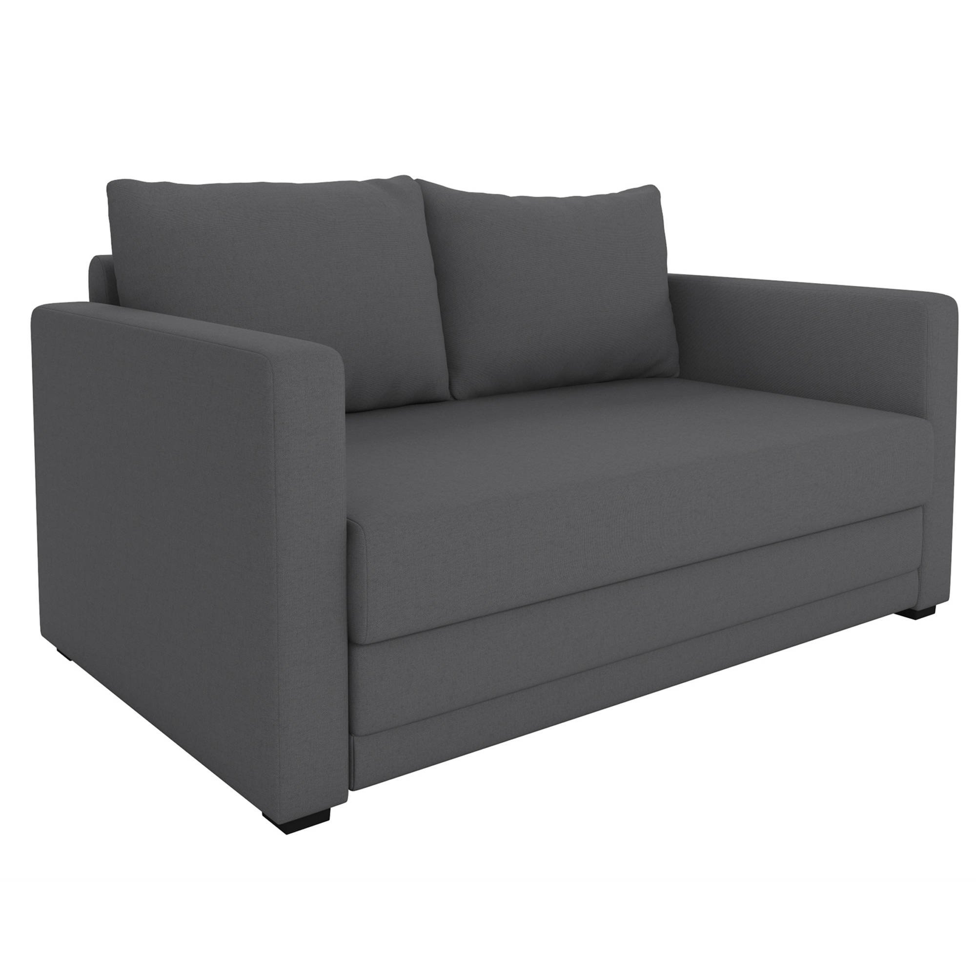 Get Quotations Modern Design With Wide Track Arms And Encased Coil Sofa Chair Sleeper Grey