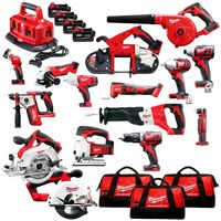 100% Discount Wholesales best price for Milwaukee 2695-15 M18 18-Volt Cordless Power Lithium-Ion 15-Tool Combo Kit