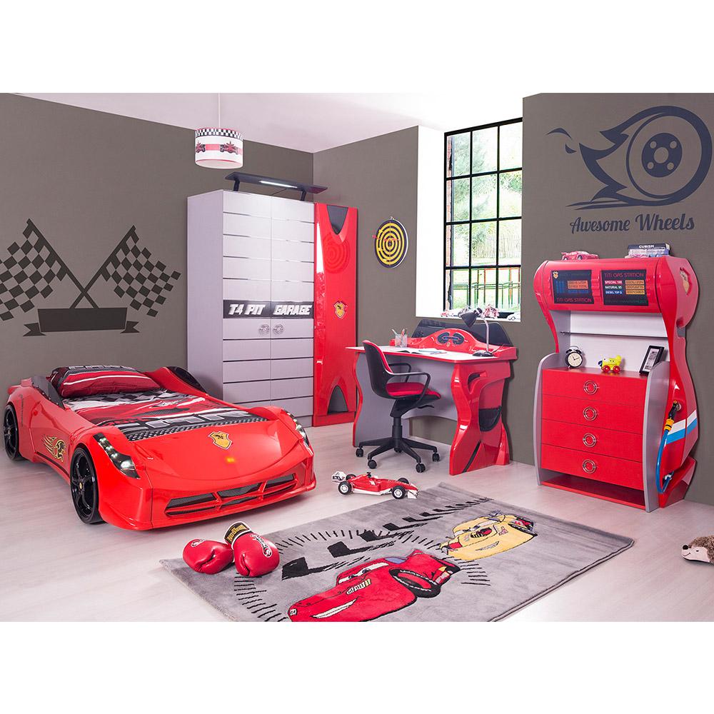 Car Bed room for boys - Racer Kids room - Kids room with car