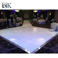Colorful illuminated interactive dance floor with led light panel