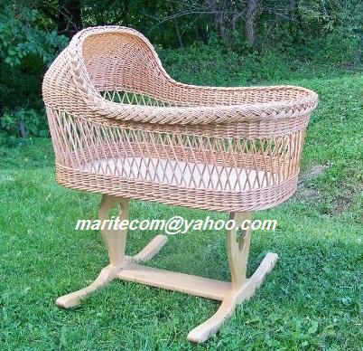 NEW Willow Baby Wicher Bassinet / Natural Baby sleeping basket/ Handmade
