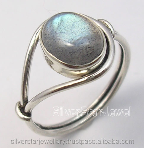 925 Sterling Silver OVAL BLUE FIRE LABRADORITE BESTSELLER Rings Any Size HANDMADE Gift Traditional Ethnic Jewellers Import