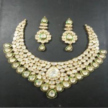 4e9fa3d2958e4 Indian Polki Bridal Jewelry Sets Kundan Polki Jewellery Set - Buy Kundan  Jewellery,Artificial Kundan Polki Bridal Necklace Set,Kundan Diamond Polki  ...