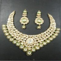 Indian Polki Bridal Jewelry Sets Kundan Polki jewellery set