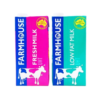 F&N Malaysia Farmhouse UHT Milk Fresh / Low Fat Milk