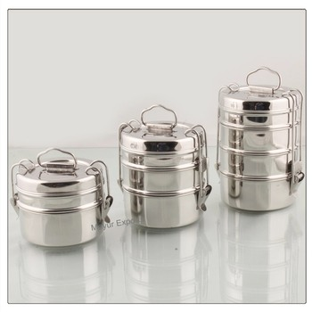 70266c201329 Stainless Steel Tiffin / Lunch Box / Meal Container - Buy Steel Bento  Box,Metal Meal Container,Stainless Steel Lunch Box Product on Alibaba.com