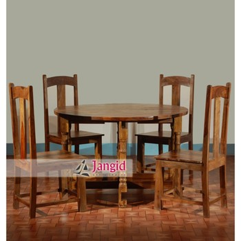 Stupendous Sheesham Wood Folding Solid Wooden Round Dining Table Set Buy Folding Dining Table Set Round Dining Table Set Solid Wooden Round Dining Table Gmtry Best Dining Table And Chair Ideas Images Gmtryco