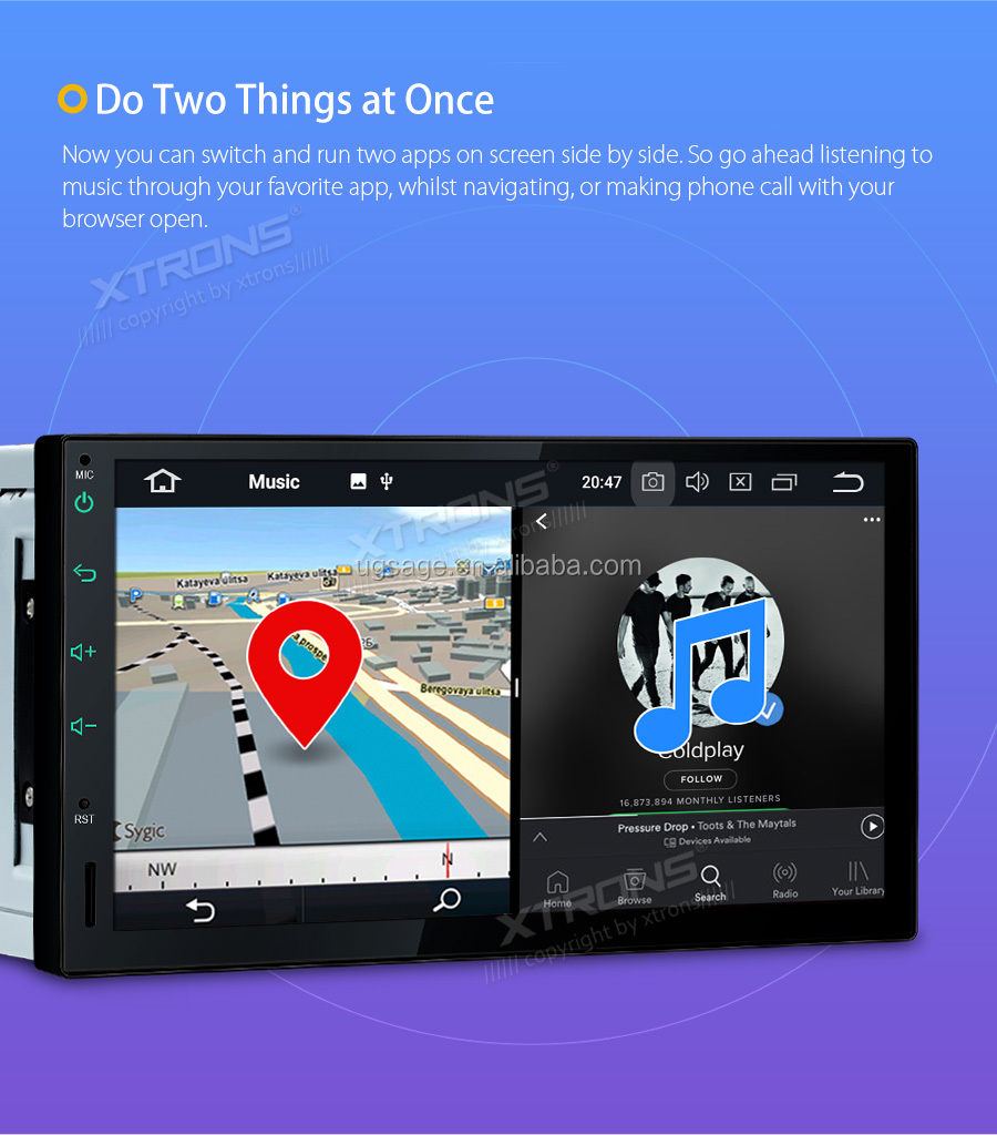Xtrons 7 Inch 32gb + 4g Ram Touch Screen Double Din Android Car Stereo  Support Wifi/screen Mirroring/obd2 - Buy Double Din Car Stereo,Estereo Del