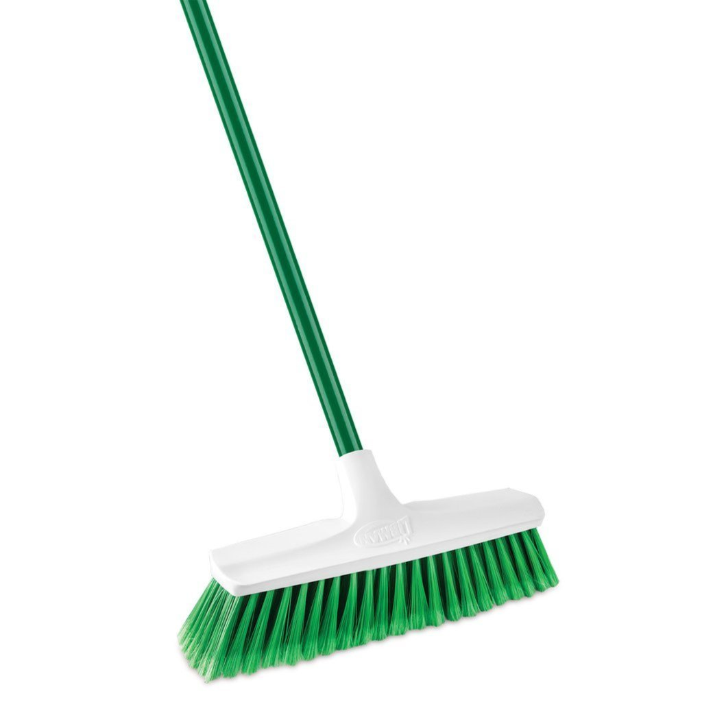 "Libman Home And Commerical Sweep Push Broom - 13"" Smooth Bristles, 53"" Handle, Indoor and Outdoor"