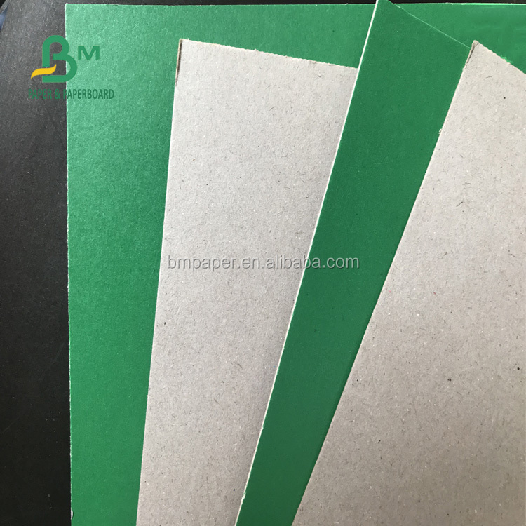 Best offer 1.2mm excellent stiffness green cardboard with FSC certificate