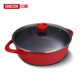 Aluminum non-stick coating induction cookware chinese hot pot cooking casserole with glass lid