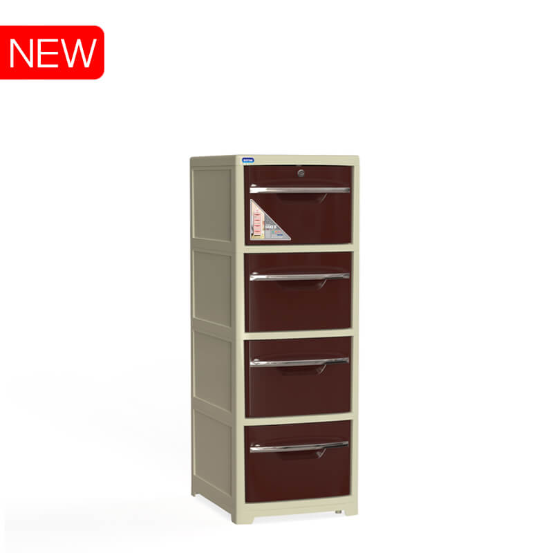 Sake 4 drawers cabinet No.H051/4  made in Vietnam Duy Tan plastics cheap price quality in ABS
