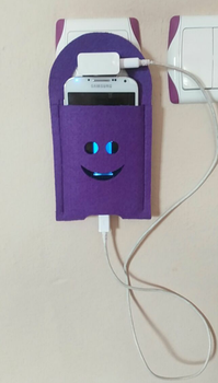 wall mobile phone charging station phone docking station felt wall