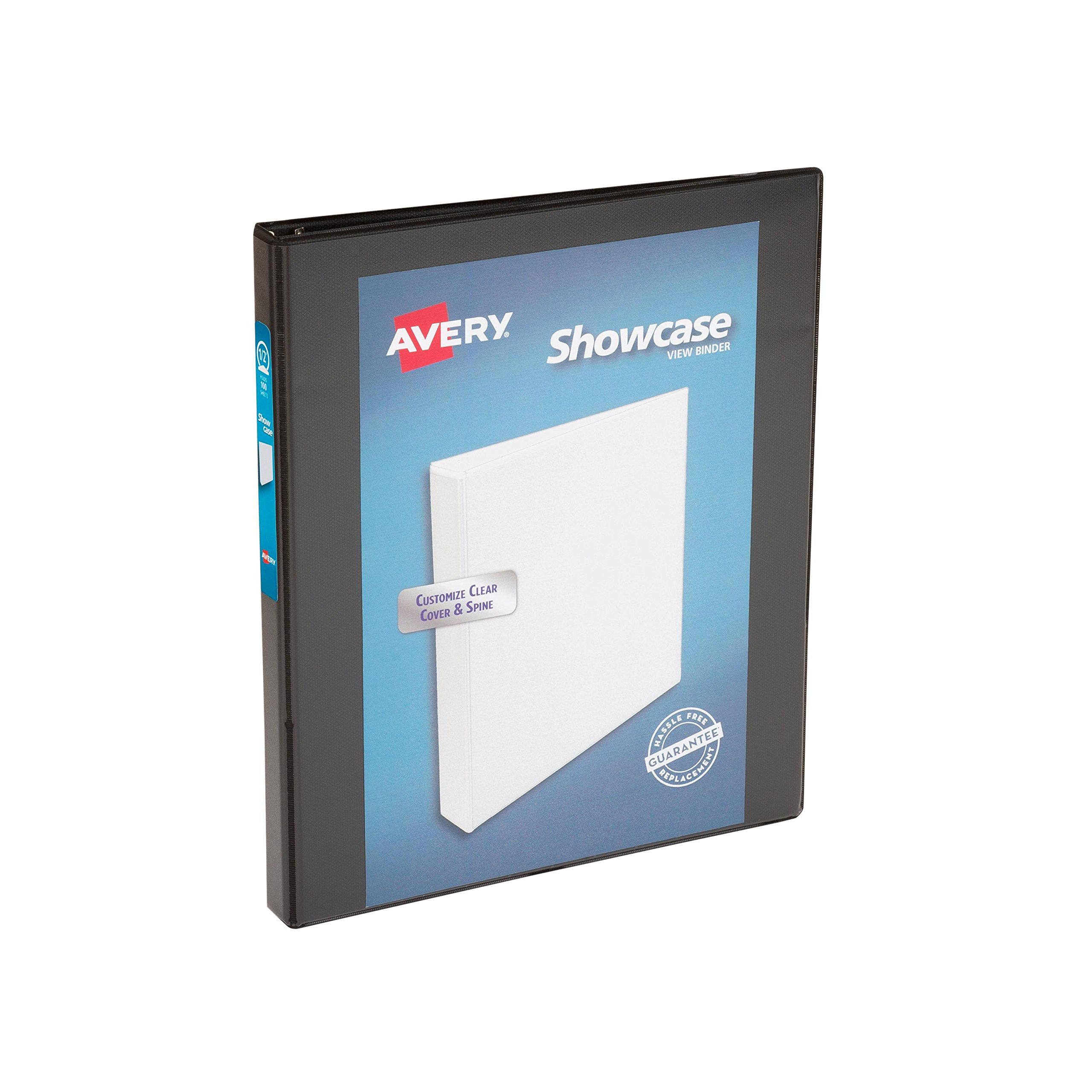 Avery Economy Showcase View Binder with 0.5 Inch Round Ring, Black, One Binder (19550)