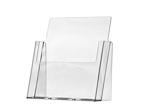 Marketing Holders LOT OF 25 of 8.5x11 Clear Acrylic Marketing Holder Plastic Brochure Holder for Full Page Literature
