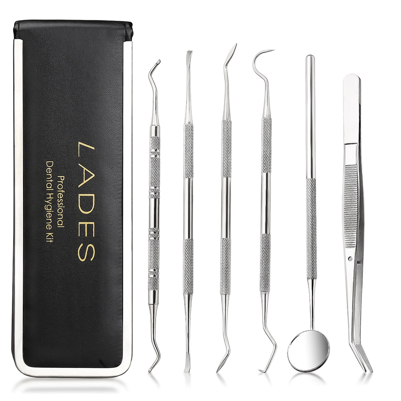 Dental Tool Kit - Calculus and Plaque Remover Set Tarter Scraper Dentist Prepared Tools Kit for Tooth Cleaning Oral Care