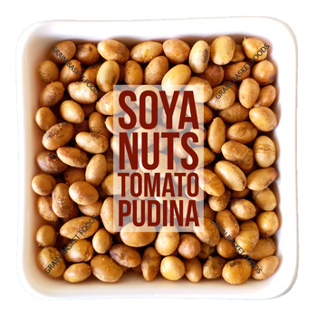 Best selling Dry Roasted Lightly Salted Seasoned Soy Nuts Tomato Pudina Flavoured Whole Beans Low Salt Healthy Diet Snack Food