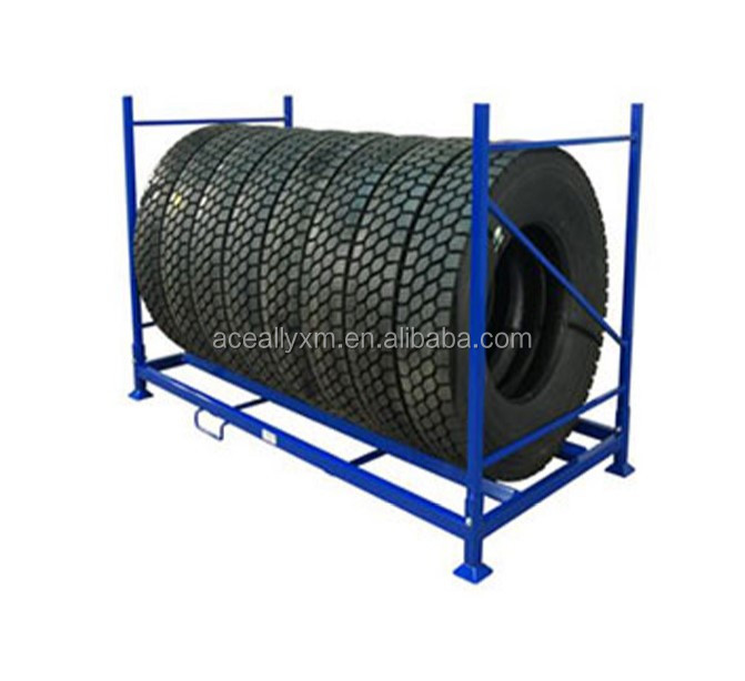 Detachable Design Truck Tires Foldable Metal Stacking Rack