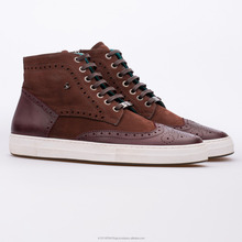 Casual | Sneakers Leather Men Shoes Turkey / George - Nubuck & Leather Bordeaux