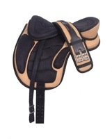 Synthetic Freemax Treeless Horse Saddle Pink Black
