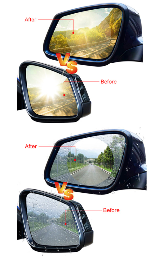 wholesale price Car Accessory Anti Fog Film Anti Water round and oval shape customized size Rearview Mirror Protector film