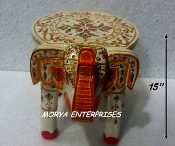 Miraculous Indian Wooden Fine Emboss Elephant Stool Footstool Chair Table Buy Wooden Side Stool Footstool Chair Table Cheap Tables And Chairs Product On Machost Co Dining Chair Design Ideas Machostcouk