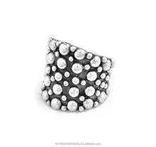 Black Base with metal dots Silver925 Ring