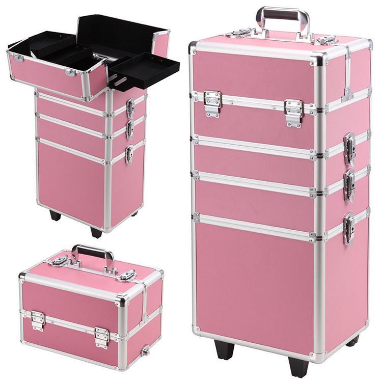 Aluminium Rolllade Schönheit Trolley Cosmetic Organizer Make-Up Fall