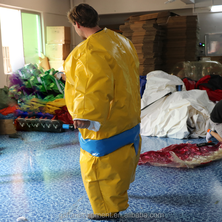 kids and adults foam padded fighting suits inflatable sports games/ sumo suits sumo wrestling