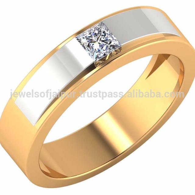 14k Hallmark Gold Real Certified Diamond Engagement Wedding Band