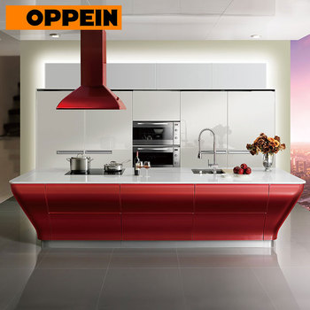 China Wholesale Oppein Red Lacquer Smart Kitchen Cabinets for Export