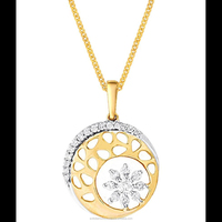 Gifting Light Weight Low cost 18k Diamond Gold Pendant