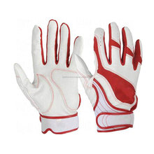 High Quality Baseball Batting Gloves / Softball Cool Batting Gloves in Genuine Leather