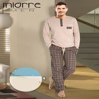 MIORRE OEM MEN'S NEW 2017 SLEEPWEAR & PAJAMAS COLLECTION LONG SLEEVE & COMFORTABLE FULL SLEEPWEAR PAJAMAS SET
