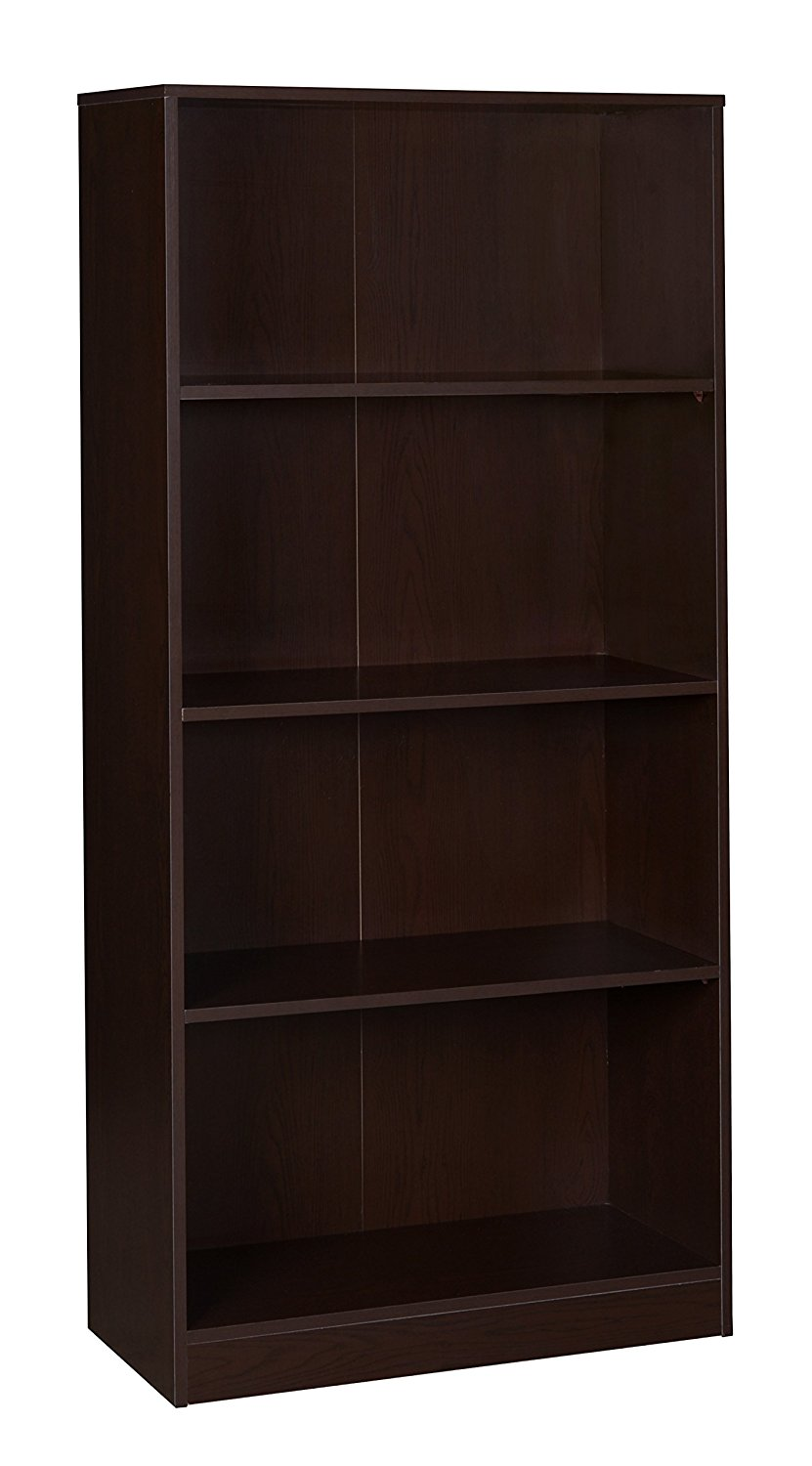 """Niche NBC6530TF Mod Bookcase with No-Tools Assembly, 65"""", Truffle"""