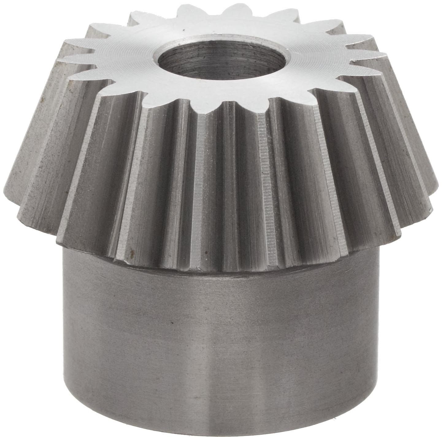 "Boston Gear PA45312Y-P Bevel Pinion Gear, 3:1 Ratio, 0.500"" Bore, 12 Pitch, 18 Teeth, 20 Degree Pressure Angle, Straight Bevel, Steel"