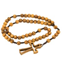 Handmade Holy Land Olive Wood Rosary