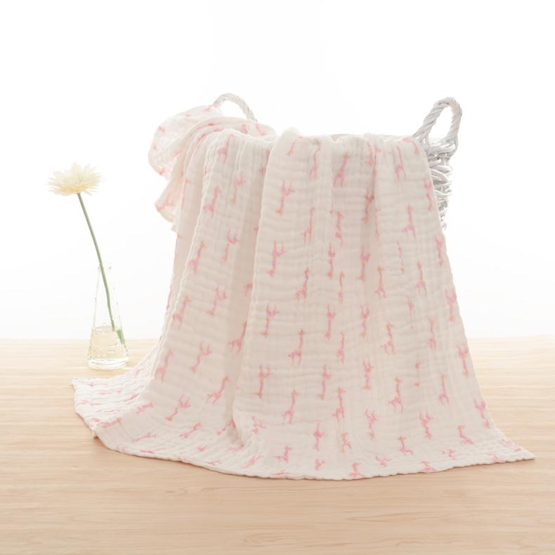 カスタム100%コットン夏薄いモスリンベビー毛布