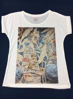 fashion clothing,latest printed ladies short sleeve t shirt