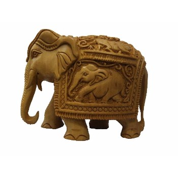 Indian Designer Wooden Handicraft Hand Deep Carving Elephant Best