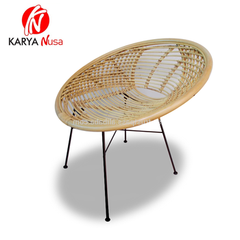 Factory direct supply hand made rattan chair lounge living room Rattan lounge wicker rattan furniture anggrek chair