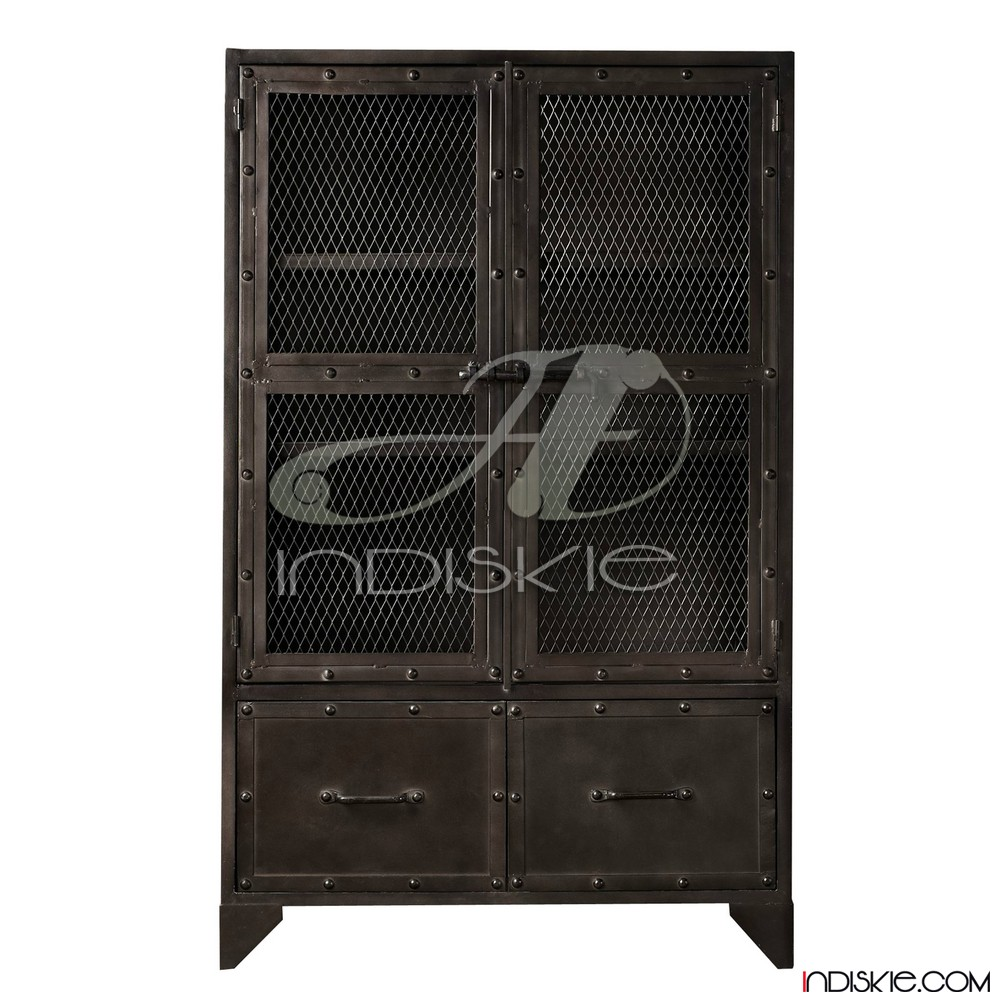 Industrial Vintage Metal Armoire Wardrobe Cabinet - Buy Industrial ...