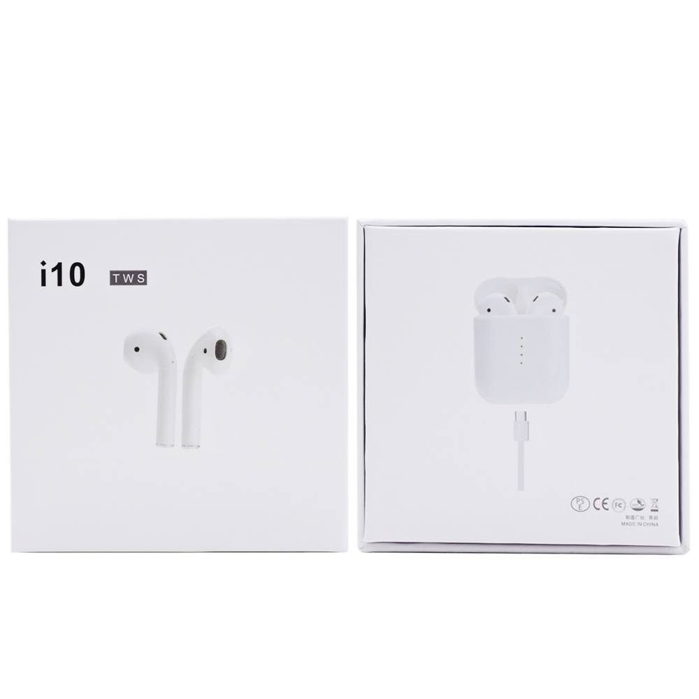 i10 TWS Wireless Bluetooth Headphone with Charging Box