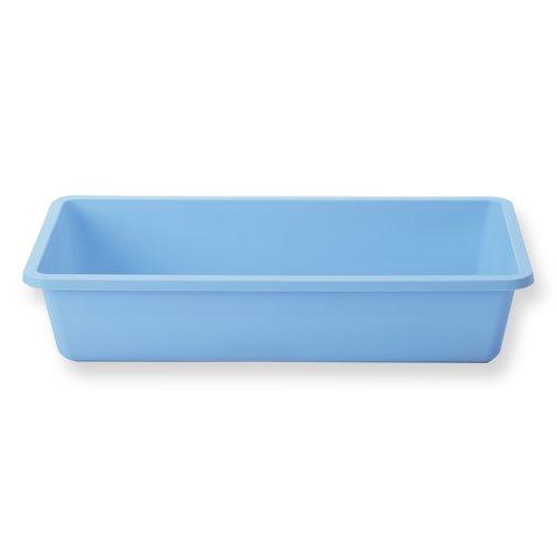 """Qosina 73065 Blue Polypropylene Deep Tray, 9-23/32"""" Length x 5-25/64"""" Width x 2"""" Height (Pack of 25)"""