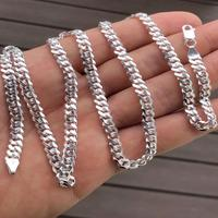 Solid 925 Sterling Silver Mens 5mm Tight Link Miami Cuban Link Chain Heavy Made In Italy- SHIPS FROM USA