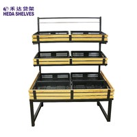 Custom Made fruit vegetable display rack Shelf Display Vegetable And Fruit for store